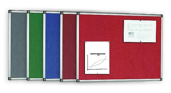 office noticeboards aluminium framed in all colours