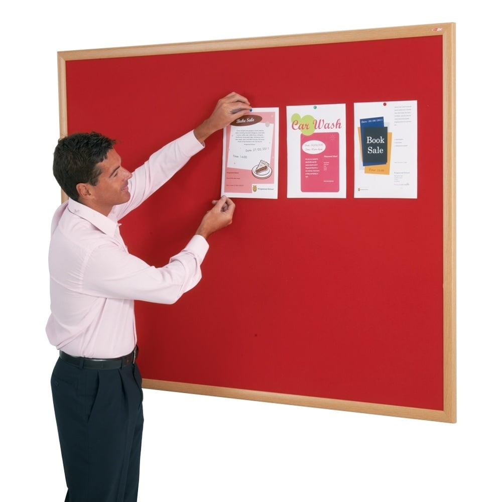 Male Teacher with Notice Board