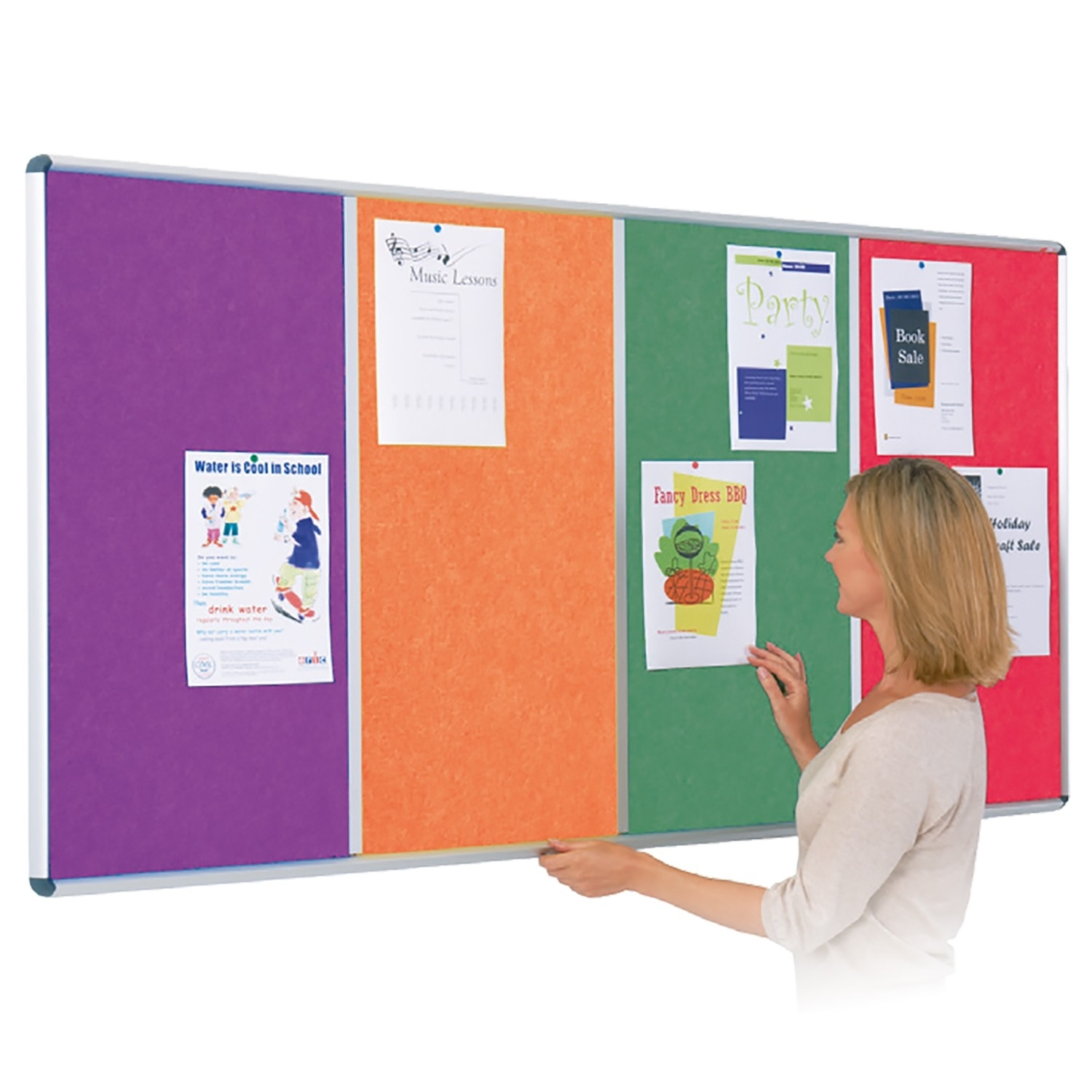 Shield Fire Resist Eco-Colour Multi-Bank Notice Board