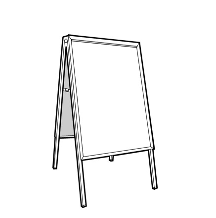 Blank Illustration of an A-Board Sign