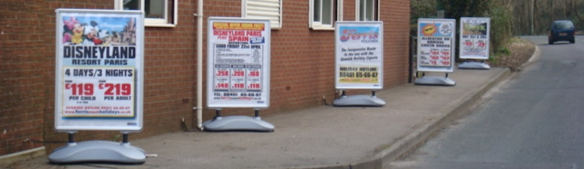 Forecourt signs