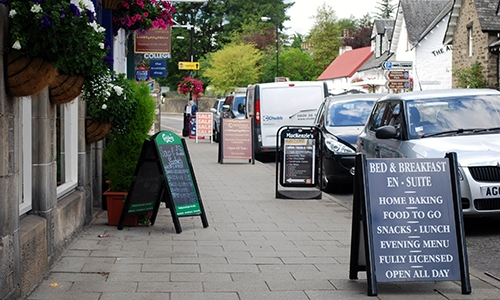 Pavement Signs in the High Street