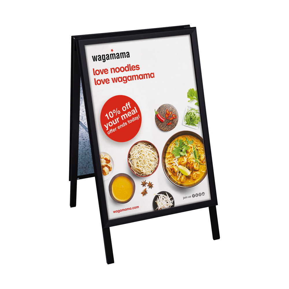 Wagamama - Pavement sign example