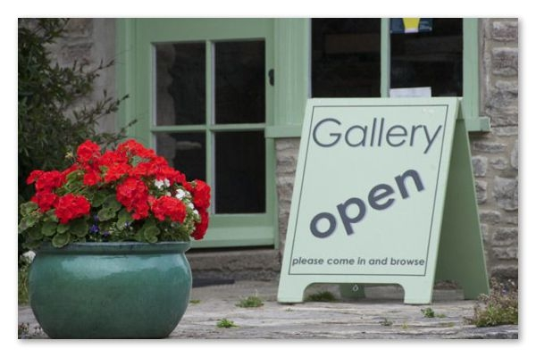 Gallery Open - A=Frame Sign Board