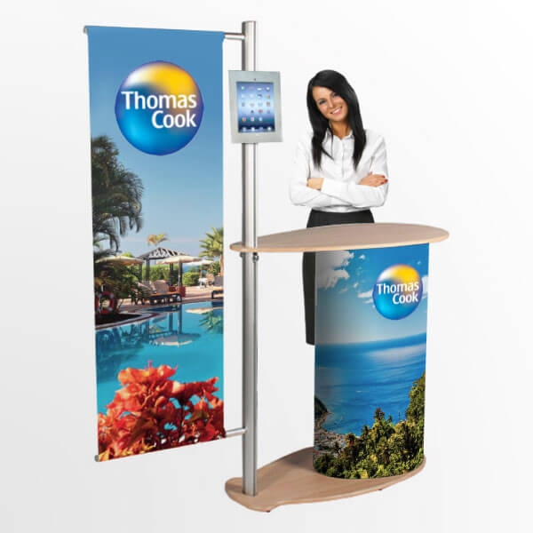 Comet Portable Display Counter Stand