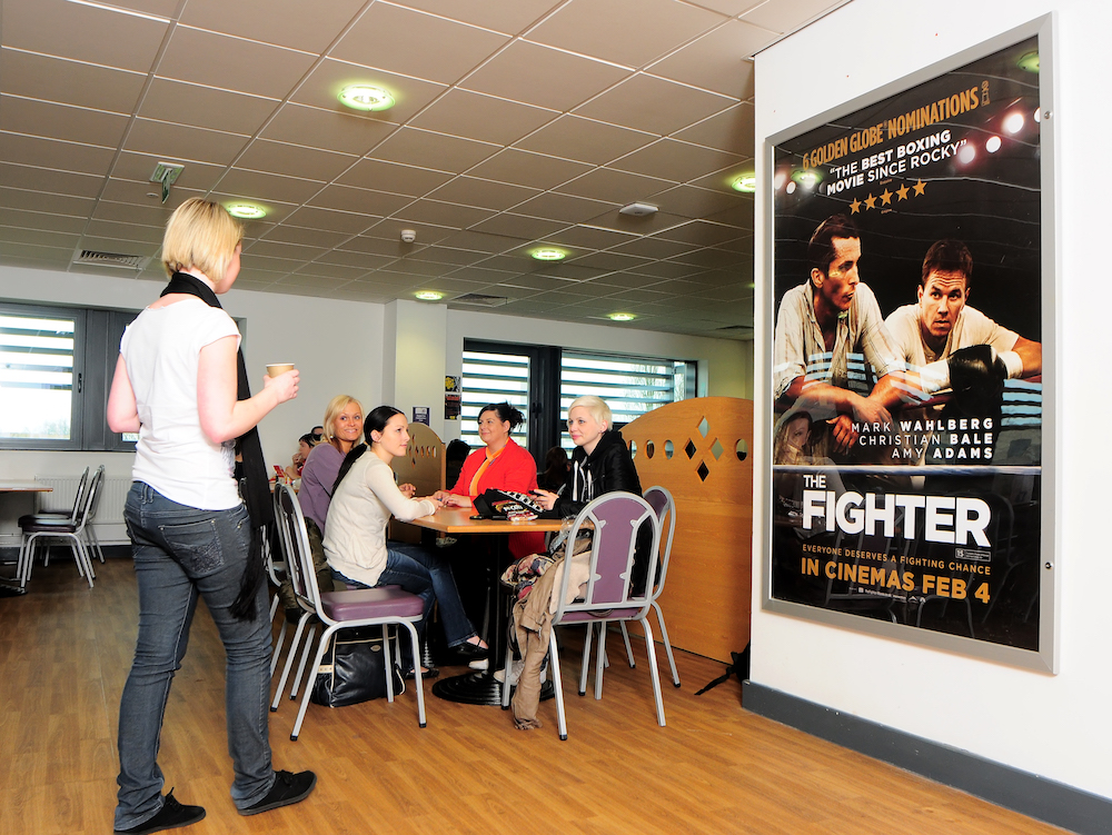 Coventry College Canteen with Movie Poster - Fighter