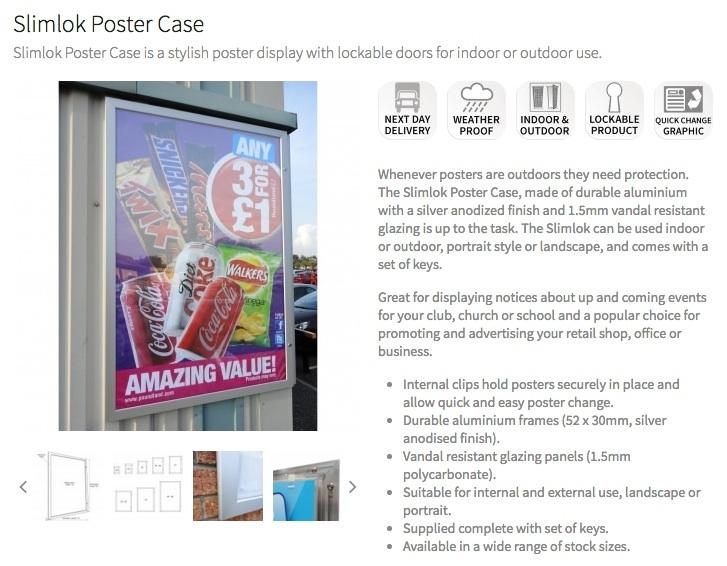 Slimlok Poster Case