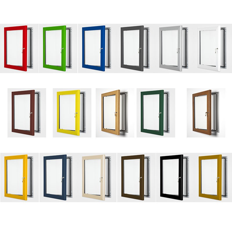 outdoor lockable poster cases - colours