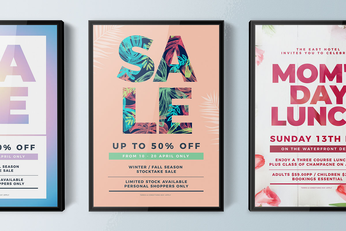 Image and text tips for poster designing