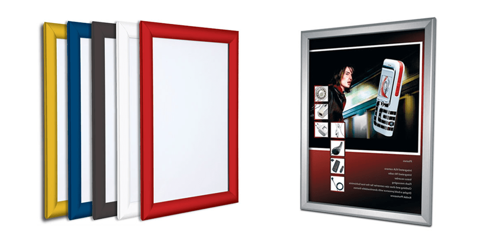 Coloured Poster Snap Frames