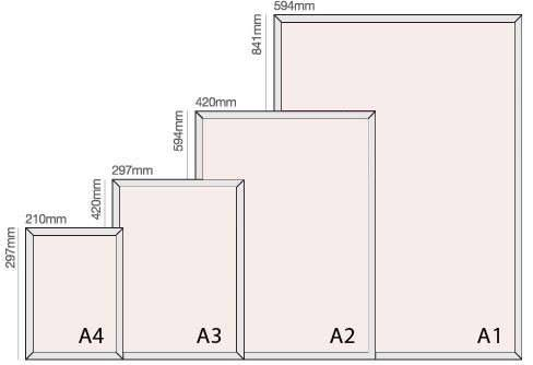 Sizes of snap frame