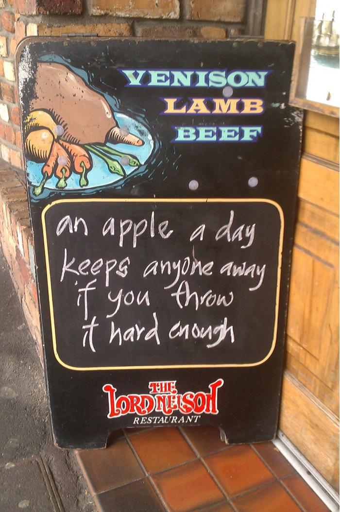 An Apple A Day - Chalkboard Sign example