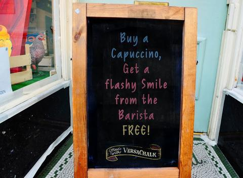 Buy a Capuccino - example chalkboard sign