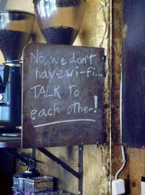 No WiFi Chalkboard