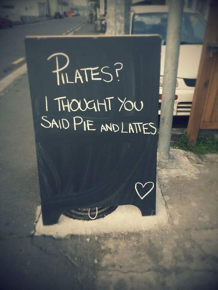 Pilates chalkboard