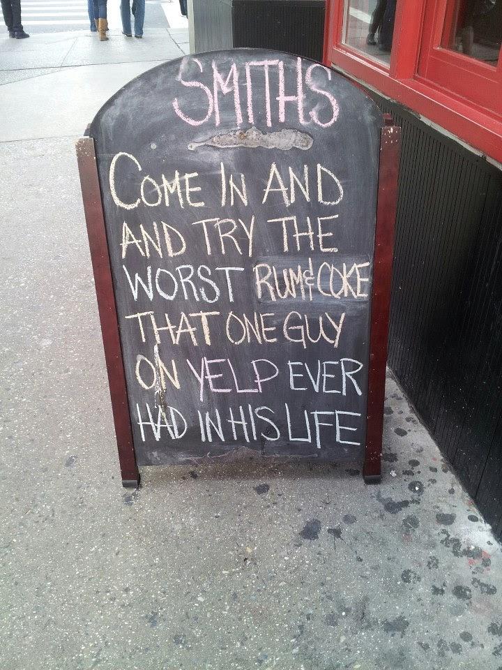Smiths Rum n Coke Chalkboard Sign
