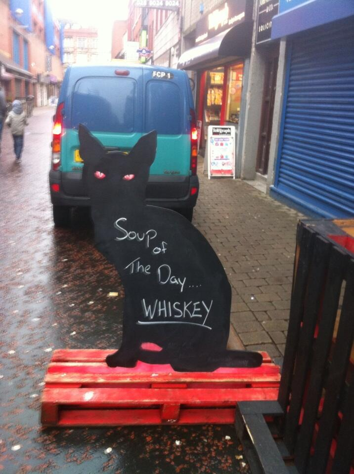Soup Of The Day - Whiskey - example funny chalkboard sign