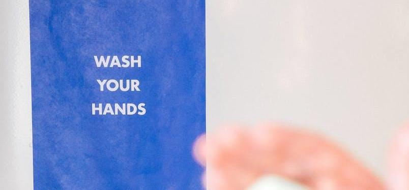 Wash your Hands - sign banner graphic