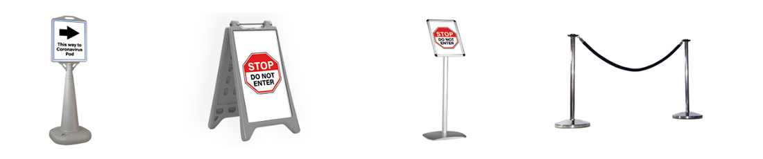 4 examples of signage product to communicate policy