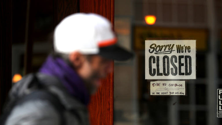 Pic of business - sorry we're closed