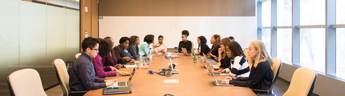 Boardroom workplace meeting