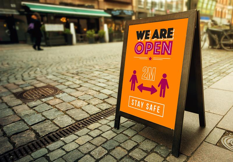 A-Board Chalkboard Sign - We Are Open