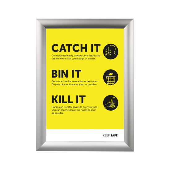 Poster Frame example product with coronavirus safety advice