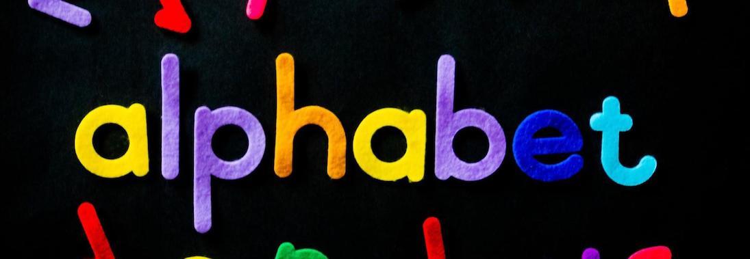 Fuzzy Felt Lettering spelling - alphabet