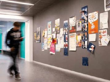 School Notice Board in Corridor