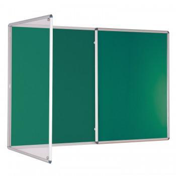 Tamperproof Notice Board - Green