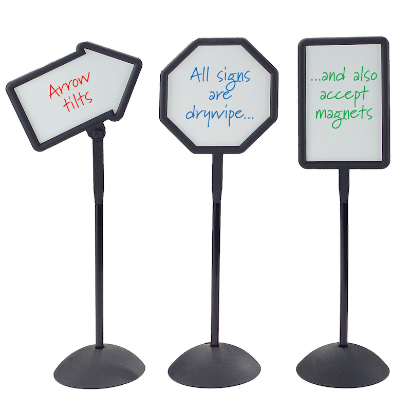 Freestanding Whiteboards signs - 3 styles