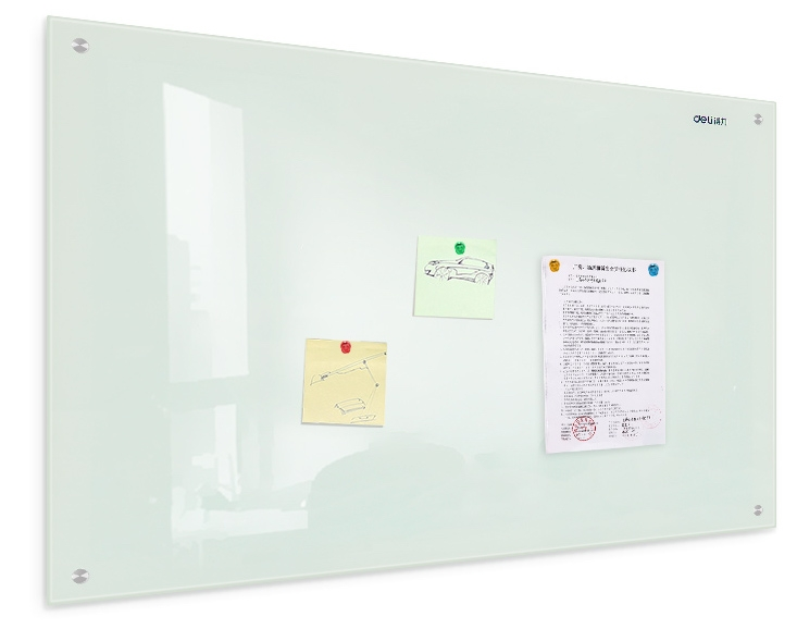 Magnetic Glass Whiteboard - product pic in situ