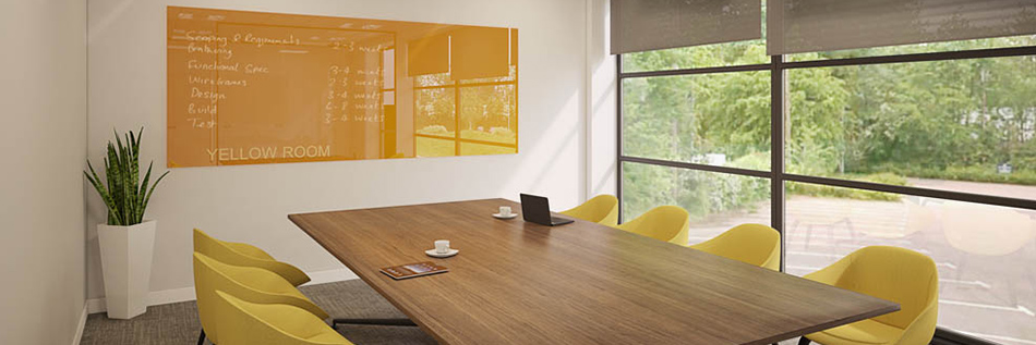 Yellow Glass Whiteboard