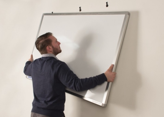 Installing a magnetic whiteboard example pic