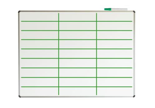 Green Lined Whiteboard