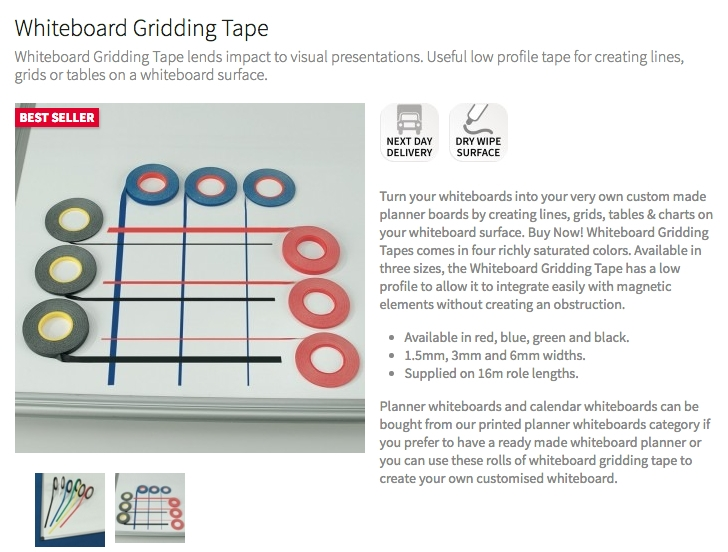 Red17 Buy Whiteboard Gridding Tape