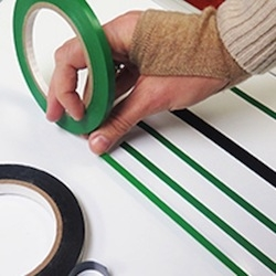 Creating a chart with tape freehand