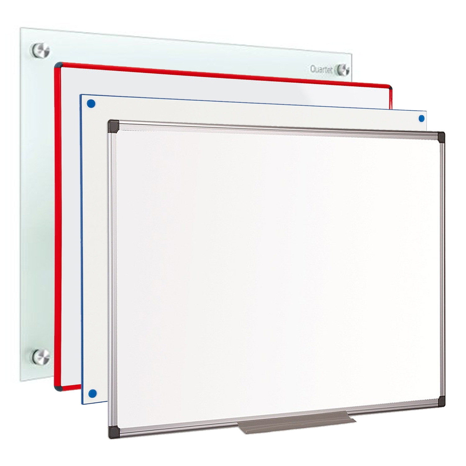 Montage of red17s different types of whiteboards