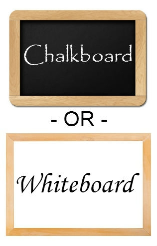 Whiteboard or Chalkboard