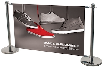 Basic Cafe Barrier Stand