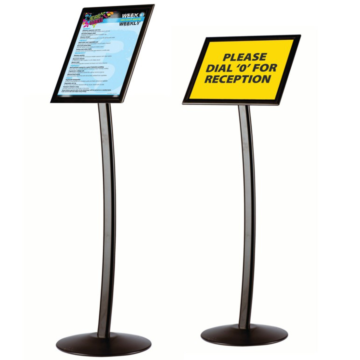 Black Information Stands