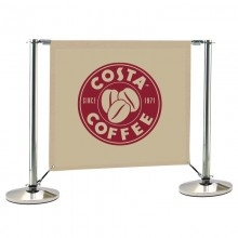 Banner Stand for Cafe Barrier