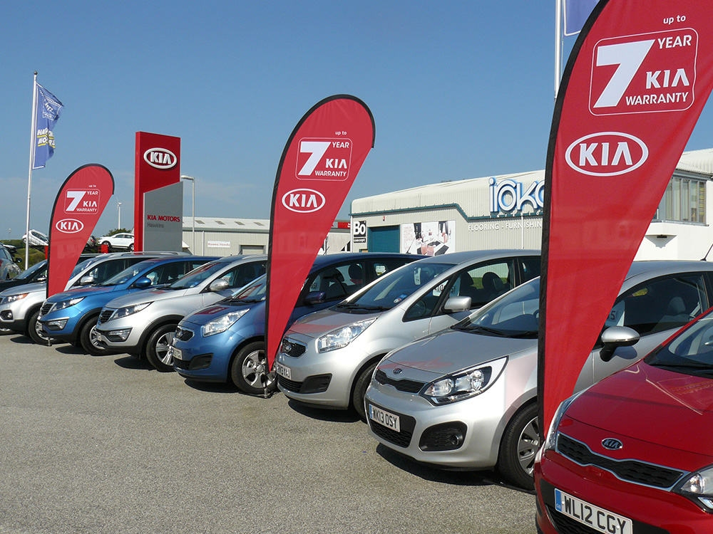 Car Show Rooms and Forecourt Flag Pole Banners