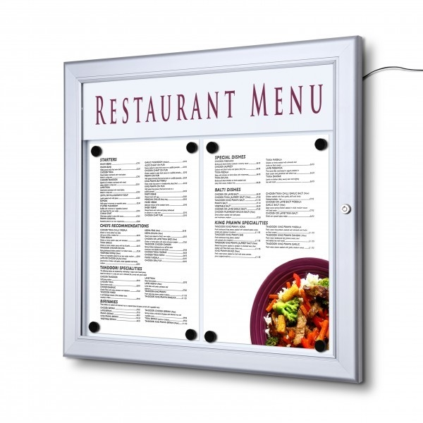 Restaurant Outdoor Menu Case Displays
