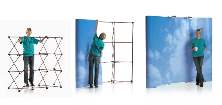 Easy Assembly Portable Pop-Up Display Stands