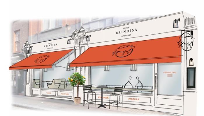 Restaurant shop front illustration