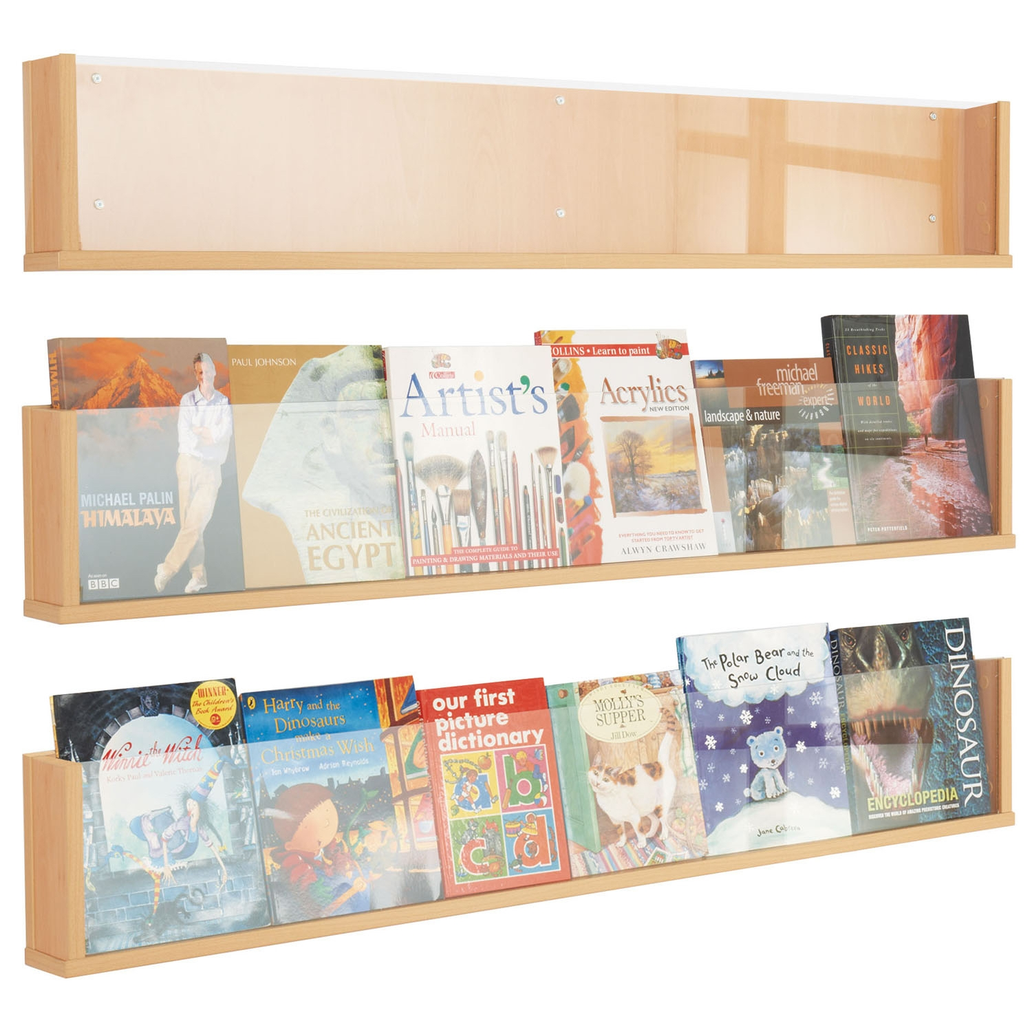 Shelf Style Wall Mounted Literature Stands