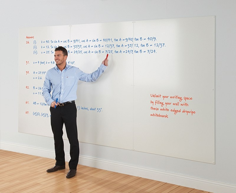 Whiteboard Wall helps with Office Productivity