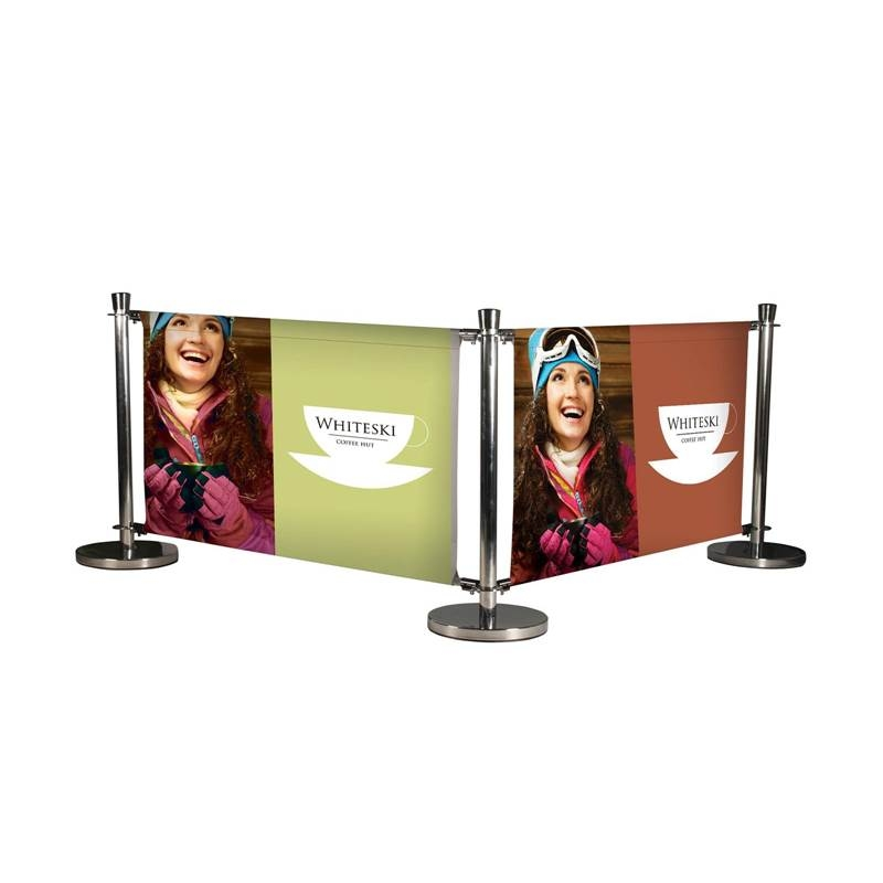 Cafe Banner Stands and Cafe Barriers