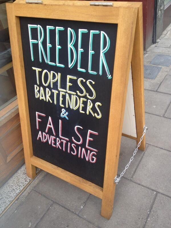 Free Beer Chalk Board